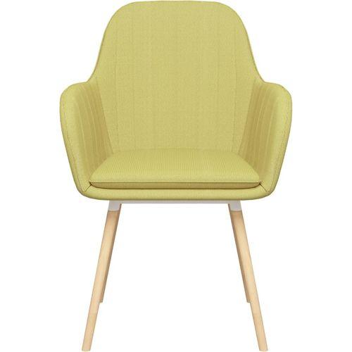 Blagovaonske stolice s naslonima za ruke 2 kom zelene tkanina slika 3