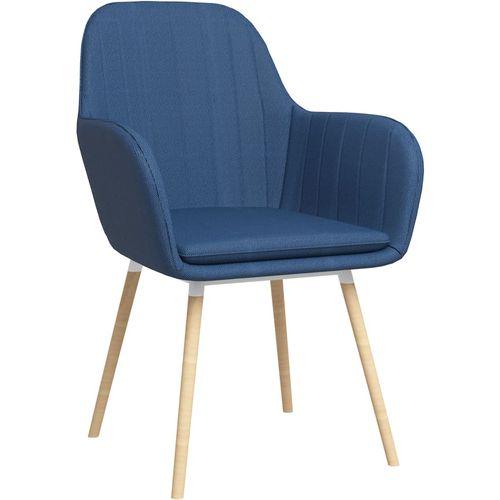 Blagovaonske stolice s naslonima za ruke 2 kom plave od tkanine slika 1