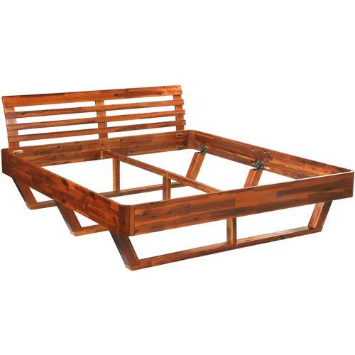 Okvir za krevet od masivnog bagremovog drva 160 x 200 cm slika 11