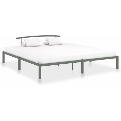 Okvir za krevet sivi metalni 180 x 200 cm slika 1