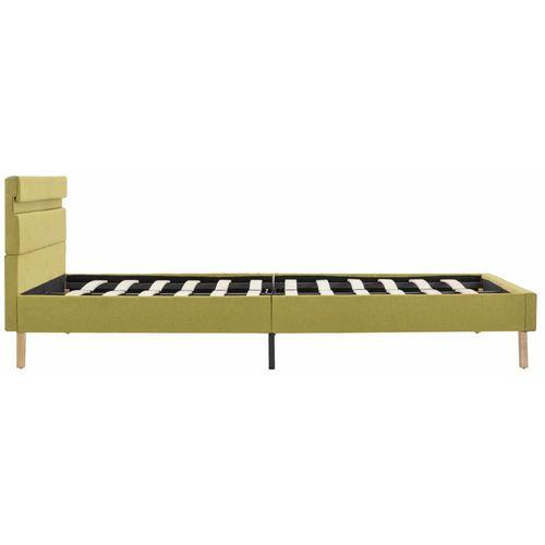 Okvir za krevet od tkanine s LED svjetlom zeleni 140 x 200 cm slika 21