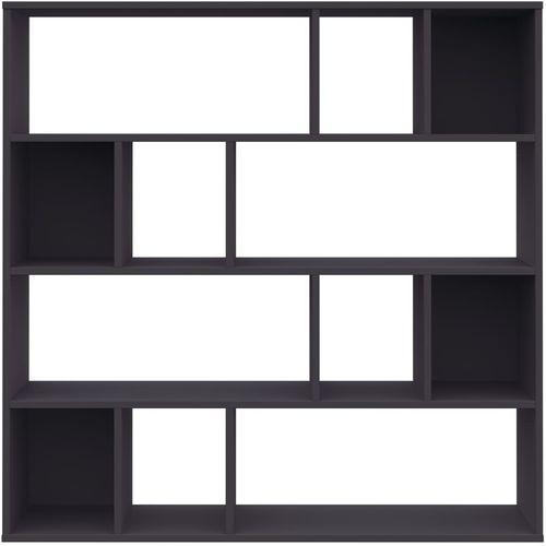 Sobna pregrada / ormarić za knjige siva 110x24x110 cm iverica slika 12