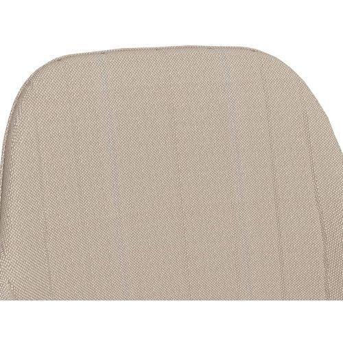 Blagovaonske stolice s naslonima za ruke 2 kom krem od tkanine slika 6