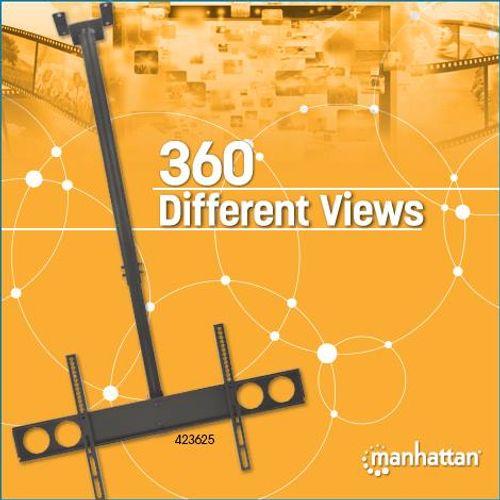 Manhattan univerzalni stropni nosač za TV s ravnim zaslonom 37-70'' (93.98-177.80 cm) do 50 kg slika 2