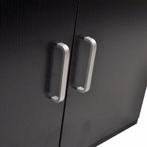 3-Dijelni Komplet Namještaja za Kupaonicu s Umivaonikom Crni  slika 8