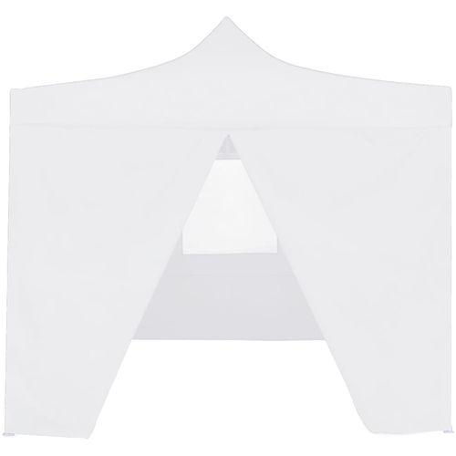 Profesionalni sklopivi šator za zabave 3 x 3 m čelični bijeli slika 4