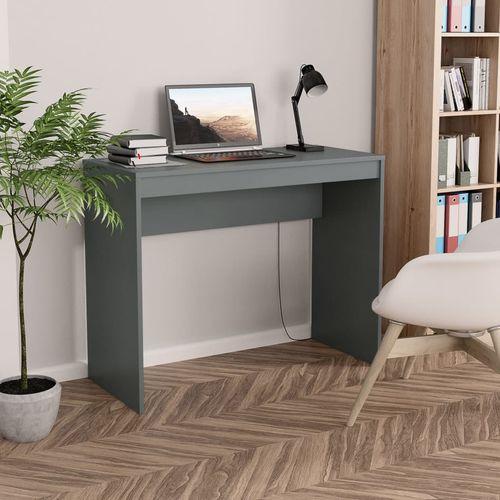 Radni stol sivi 90 x 40 x 72 cm od iverice slika 1