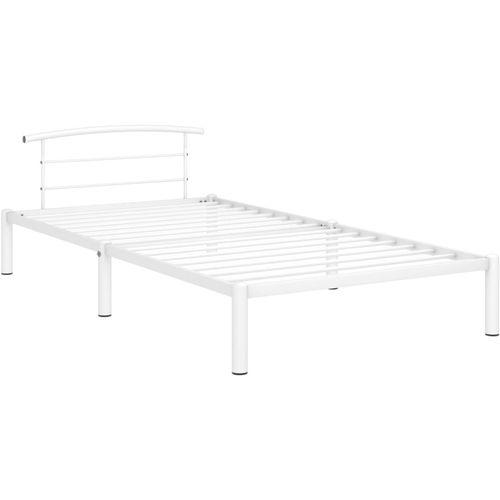 Okvir za krevet bijeli metalni 100 x 200 cm slika 2