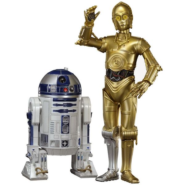 Escala: 1:10. Tamaño C-3PO: 17cm Tamaño R2-D2: 10cm Star Wars C-3PO & R2-D2 Statues ARTFX+