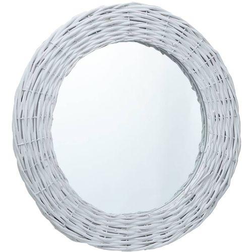 Ogledalo od pruća 80 cm bijelo slika 6