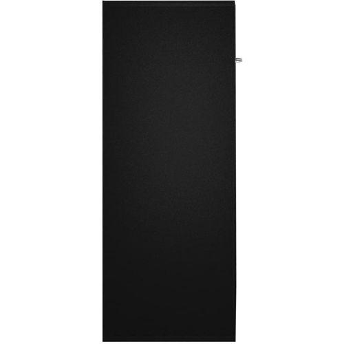 Komoda crna 60 x 30 x 75 cm od iverice slika 5