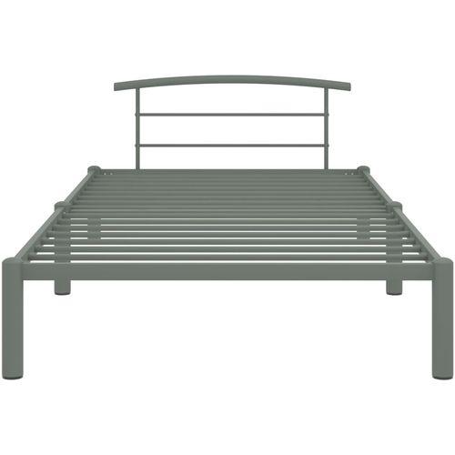 Okvir za krevet sivi metalni 100 x 200 cm slika 3