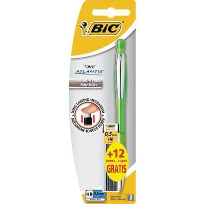 Bic Atlantis je pouzdana tehnička olovka 0,5 mm HB s metalnim  vrhom i ugrađenom gumicom sa poklopcem. Prednost tehničke olovke je to što je uvijek spremna za uporabu, bez šiljenja. Ugrađena gumica koja omogućuje lakše i brže brisanje. U pakiranju dolazi tehnička olovka i paket Bic mina.