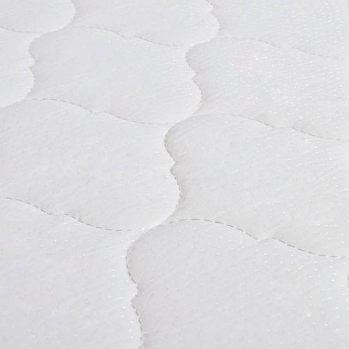 Krevet od tkanine s memorijskim madracem tamnosivi 120 x 200 cm slika 2