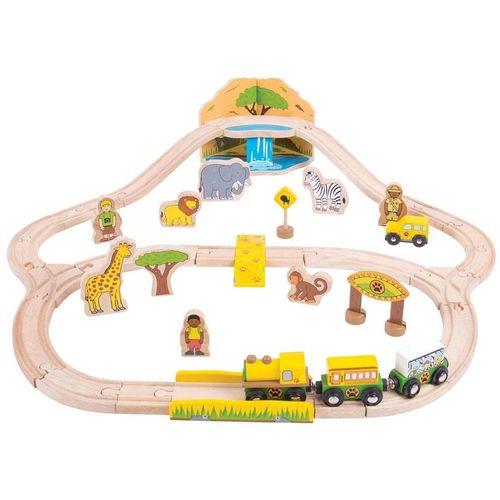 Bigjigs Set vlakova džungla slika 1