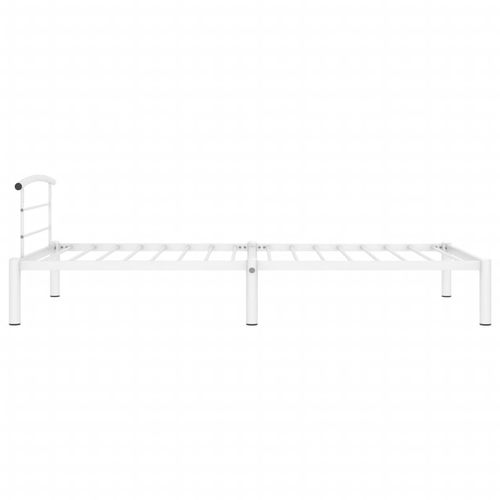 Okvir za krevet bijeli metalni 100 x 200 cm slika 4
