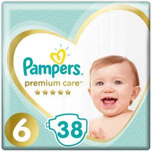 Pampers Premium Care, veličina 6, 38 komada  Pampersice Premium Care su Pampersove najbolje pelene s jedinstvenom kombinacijom značajki koja pruža zaštitu kože s 5 zvjezdica. Imaju prozračne mikropore koje propuštaju svjež zrak unutra i omogućuju da vlažni zrak izađe vani, dok ih njihova…