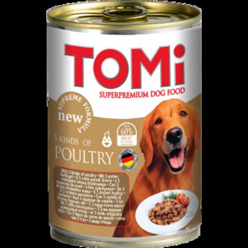 Tomi Hrana za pse konzerva 3 vrste peradi 1200g slika 1