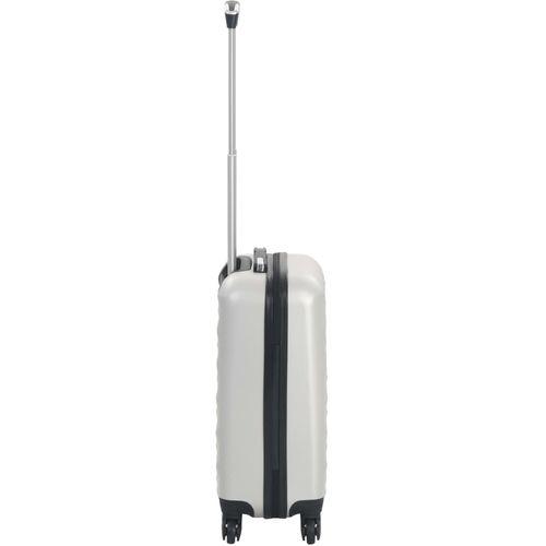 Čvrsti kovčeg s kotačima žarko srebrni ABS slika 11