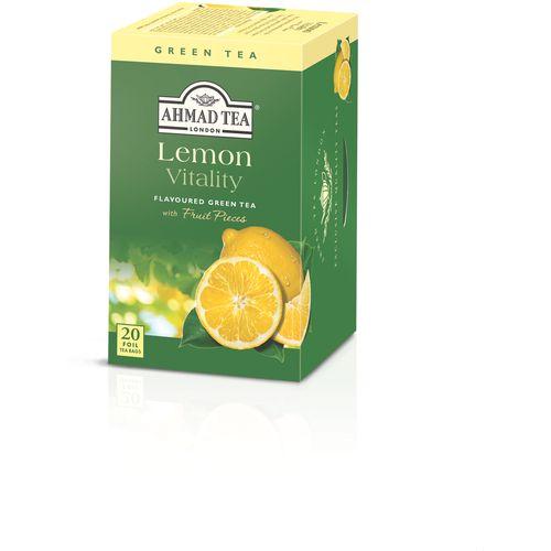 AHMAD TEA zelen čaj s limunom 2gx20 aluminijska vrećica slika 1