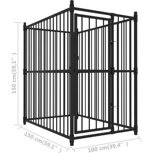 Vanjski kavez za pse 150 x 100 x 150 cm slika 9