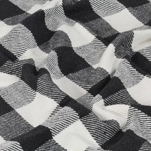 Pamučni pokrivač karirani 160 x 210 cm antracit slika 2