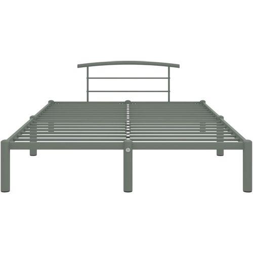 Okvir za krevet sivi metalni 140 x 200 cm slika 3