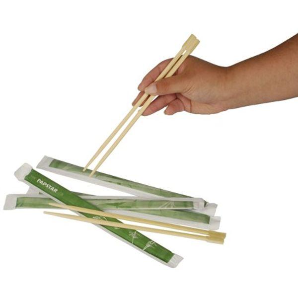 Kvalitetni štapići za jelo od čistog Bambusa , dužine 23cm, zasebno higijensko pakiranje u papirnatim vrećicama