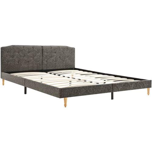 Krevet od tkanine s memorijskim madracem tamnosivi 160 x 200 cm slika 7