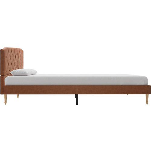 Krevet od tkanine s memorijskim madracem smeđi 140 x 200 cm slika 6