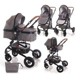 Ovaj set pruža sve što Vam treba za sretan početak majčinstva: košaru za novorođenče koja se kasnije pretvara u udobna sportska kolica, autosjedalicu s adapterima, torbu i zimsku navlaku. Promatrajte svoje novorođenče od prve šetnje jer kolica ALBA imaju opciju i košare za novorođenče i autosjedalice. Lako se sklapaju i rasklapaju, zauzimaju minimalno mjesta, a mogu se koristiti i od samog rođenja...