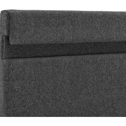 Okvir za krevet od tkanine LED tamnosivi 160 x 200 cm slika 13
