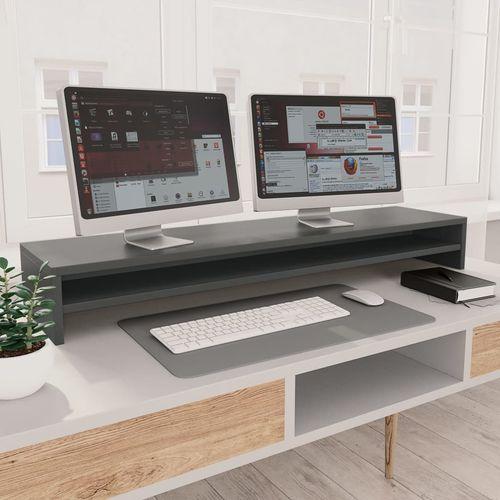 Stalak za monitor sivi 100 x 24 x 13 cm od iverice slika 1