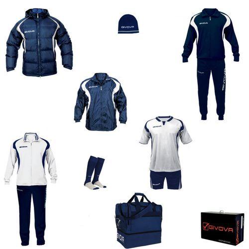 Givova sportski set za nogomet - bijela/plava slika 1