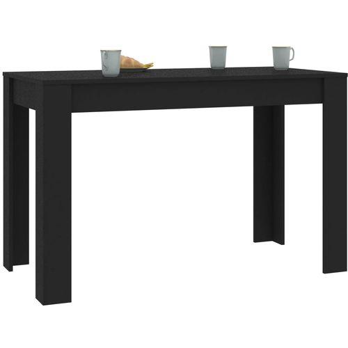 Blagovaonski stol crni 120 x 60 x 76 cm od iverice slika 3