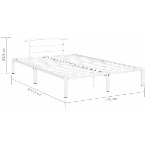 Okvir za krevet bijeli metalni 160 x 200 cm slika 7