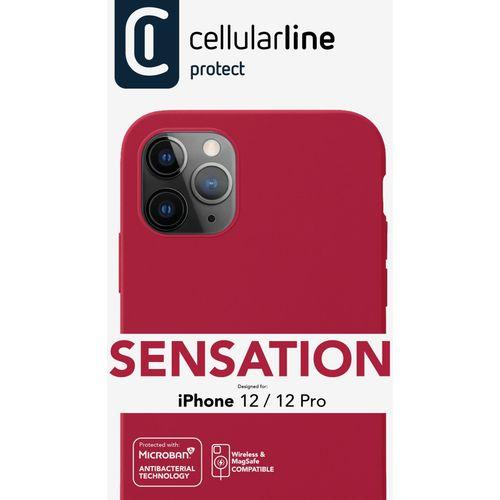 Cellularline Sensation silikonska maskica za iPhone 12/12 Pro crvena slika 3