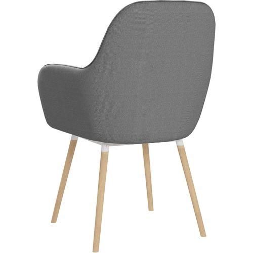 Blagovaonske stolice od tkanine 2 kom svjetlosive slika 5