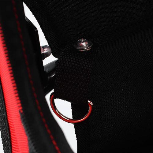 2-u-1 prikolica za bicikl i kolica za kućne ljubimce crveno-crna slika 13
