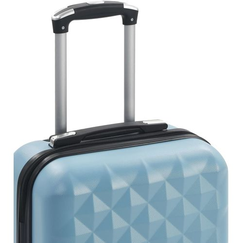 Čvrsti kovčeg s kotačima plavi ABS slika 5