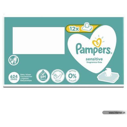 Pampers vlažne maramice Sensitive 12 x 52 komada slika 3