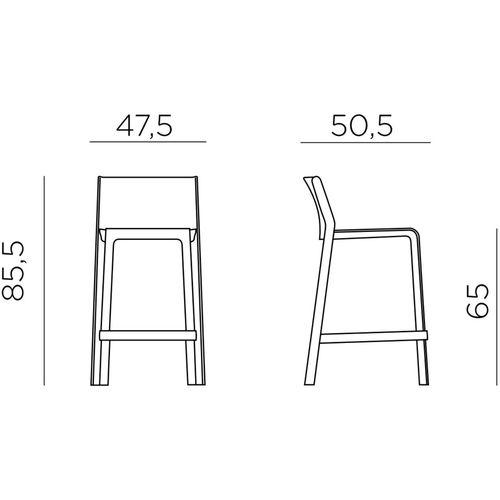 Dizajnerske barske stolice — GALIOTTO T • 2 kom. slika 2