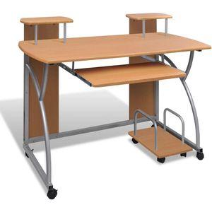 Ovaj kompaktan računalni stol je osmišljen za uštednje prostora, a sigurno će privlačiti poglede u vašem uredu zahvaljujući modernom dizajnu. Velika radna površina s 2 dosatne police pružit će Vam dodatni prostor za pohranu. Ovaj računalni stol je...