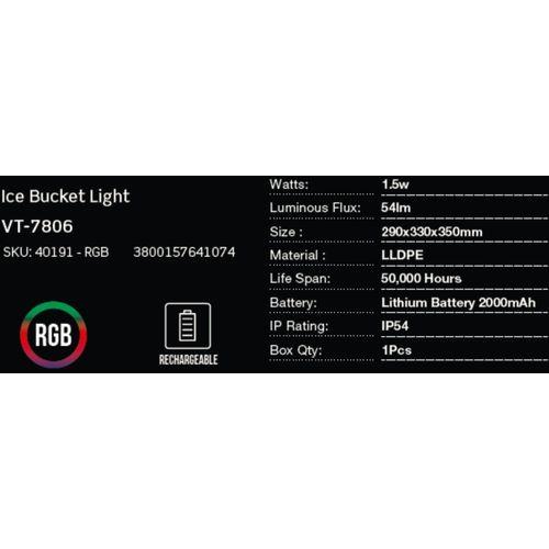 LED bežična punjiva rasvjeta — ICE BUCKET slika 2