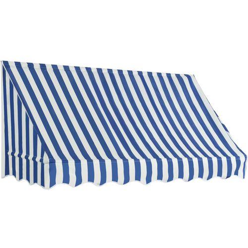 Bistro tenda 200 x 120 cm plavo-bijela slika 1