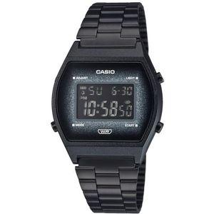 Casio Vintage ručni sat B640WBG-1BEF je s razlogom jedan od najpopularnijih proizvoda iz CASIO kolekcije. Predivan ručni sat na kojem dominira crna boja kućišta te crna boja brojčanika. Nehrđajući čelik i crna boja remena doista su odlična kombinacija. Ovaj prekrasan CASIO ručni sat pokreće quartz mehanizam.