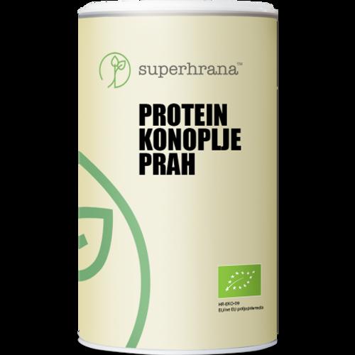 SUPERHRANA Protein konoplje prah BIO 500g slika 1