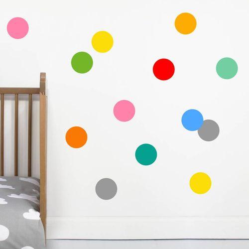 Zidne naljepnice — TOČKE — multicolor • 50% gratis slika 3