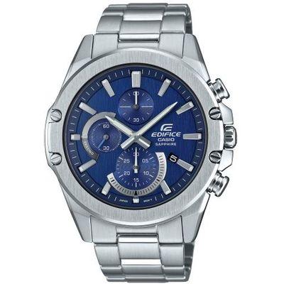 Casio Edifice Ručni sat EFR-S567D-2AVUEF  Muški ručni sat brenda Casio iz kolekcije Edifice sa preglednim plavim brojčanikom i metalnom narukvicom dizajniran je u sportsko elagantnom stilu i pogodan je za nošenje kako u svakodnevnim tako i u posebnim prilikama. Idealan je izbor za one koji kombinuju eleganciju i sportski stil.