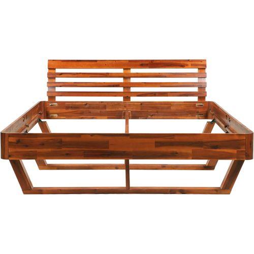 Okvir za krevet od masivnog bagremovog drva 160 x 200 cm slika 4